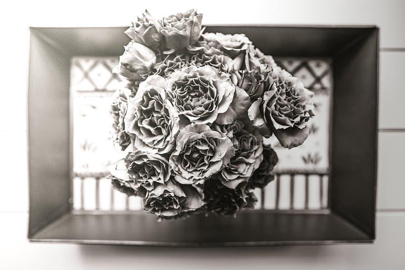 Tir aérien de beau bouquet de fleurs images libres de droits