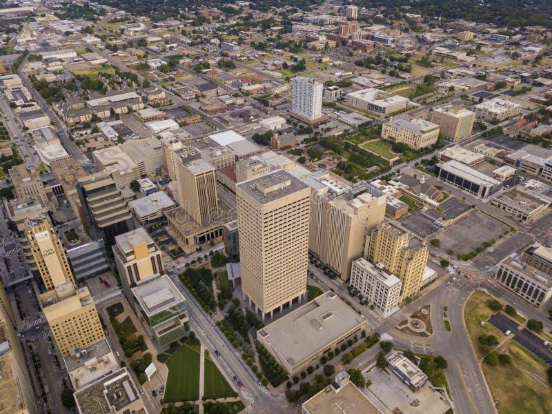 Tir aérien de centre-ville d'Oklahoma City, l'Oklahoma photos stock