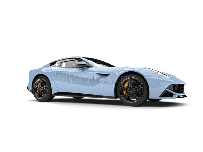 Tir automobile d'angle faible de concept moderne bleu-clair frais illustration de vecteur