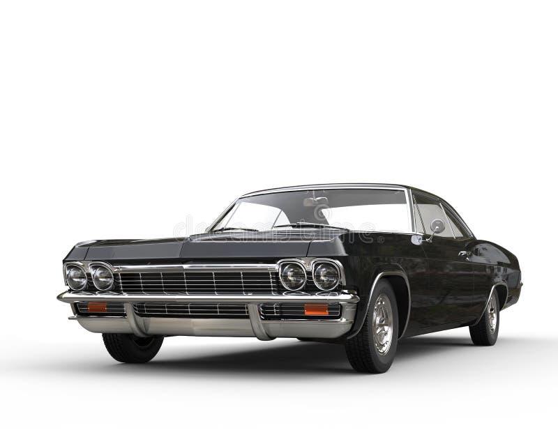 Tir automobile de studio de phares de noir classique de muscle photographie stock libre de droits