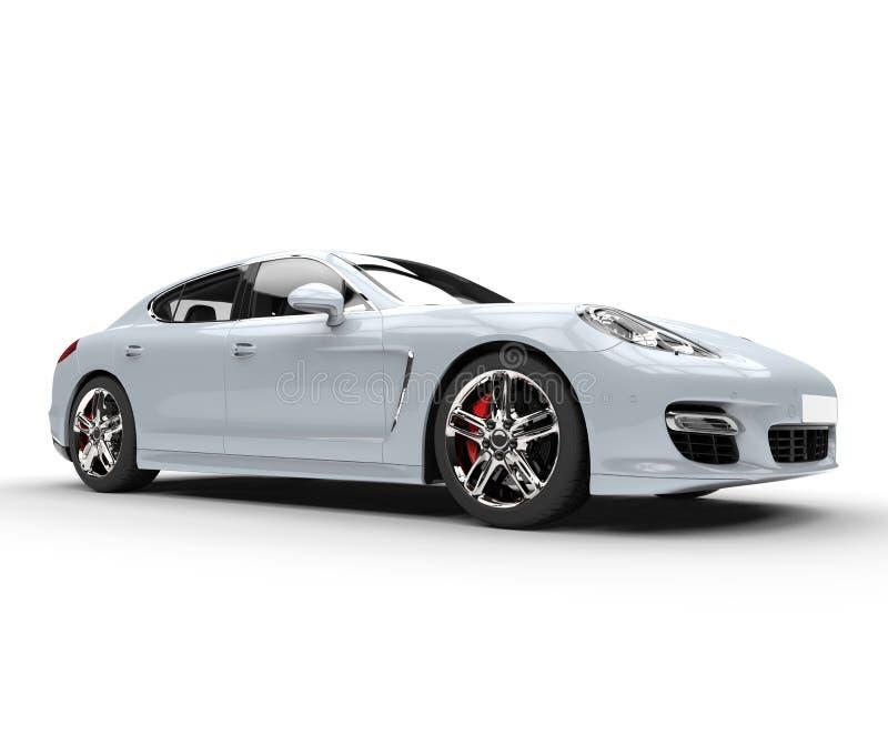 Tir blanc de studio de voiture rapide illustration de vecteur