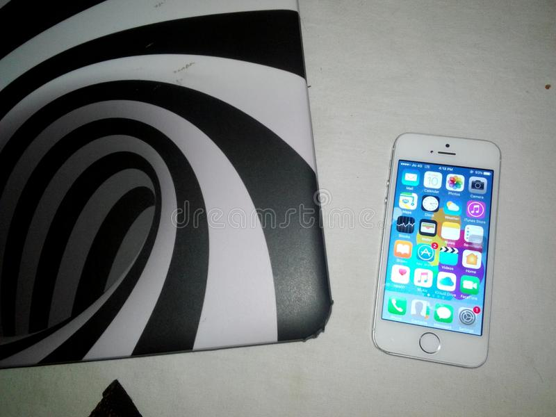 Tir d'appareil-photo de dessus d'iPhone d'Apple photo stock