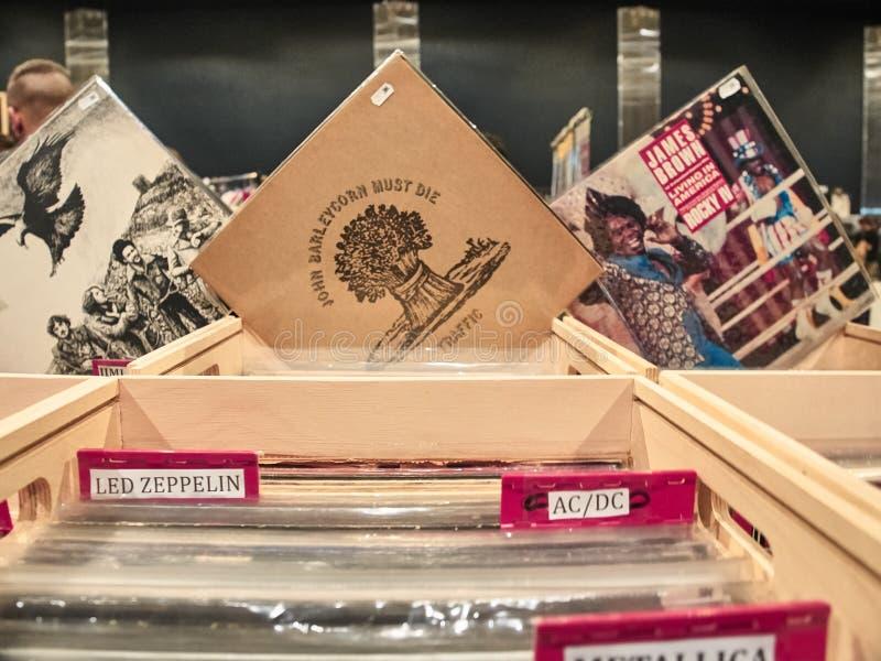 Tir d'un ensemble de vinyles photographie stock libre de droits