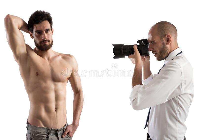 Tir d'un modèle d'homme photo libre de droits