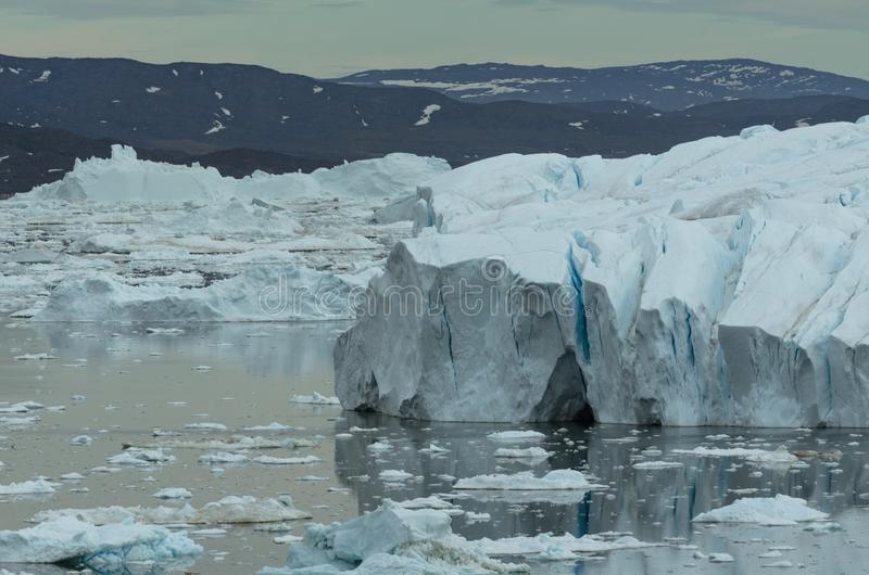 Tir de détail d'iceberg, Ilulissat Icefjord, Groenland photo libre de droits