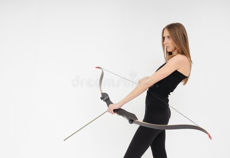 Tir de femme avec la proue photo libre de droits
