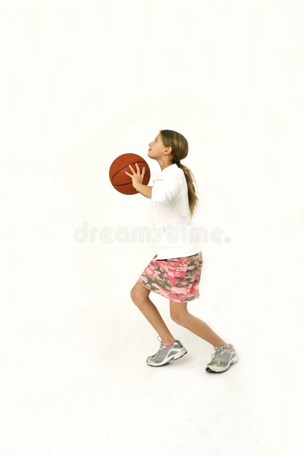 tir de fille de basket-ball photos stock