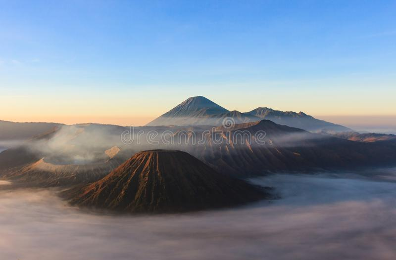Tir de matin de Gunung Bromo, Java, Indonésie image libre de droits