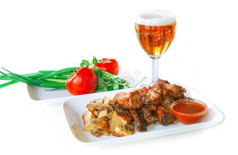 Tir de nourriture, viandes grillées photo stock