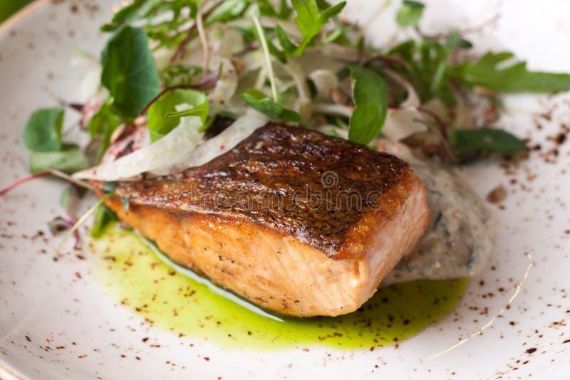 Tir de plan rapproché de Salmon Steak photos libres de droits
