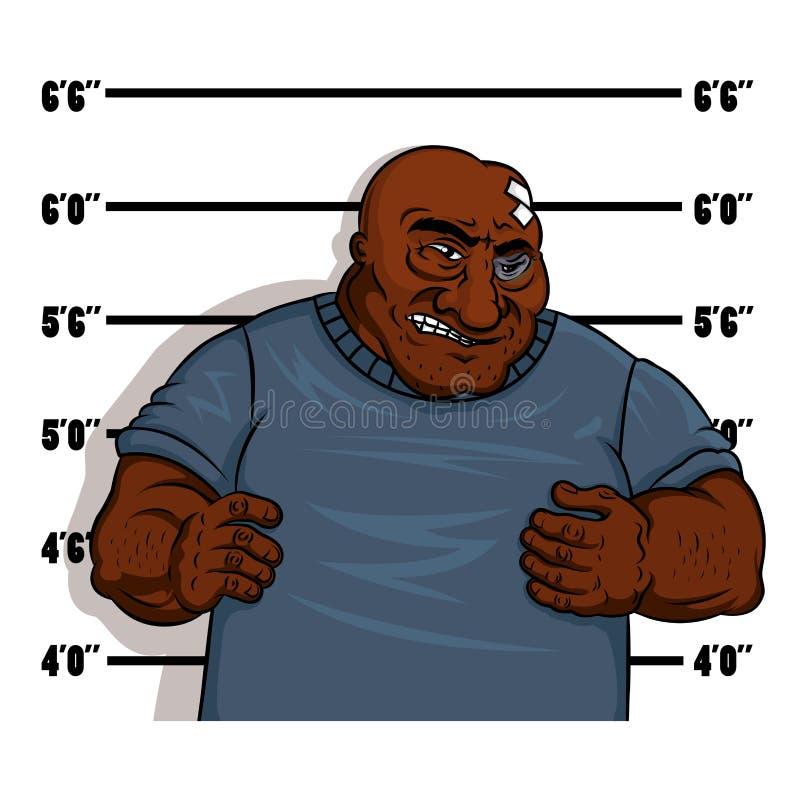 Tir de police d'un criminel durci illustration libre de droits