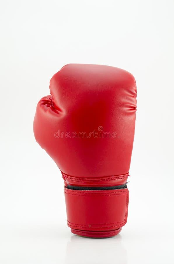 Tir de studio d'un gant de boxe rouge d'isolement sur le fond blanc photo libre de droits