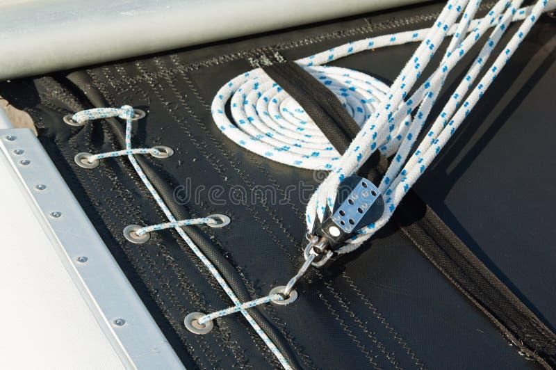 Tir en gros plan de corde photographie stock