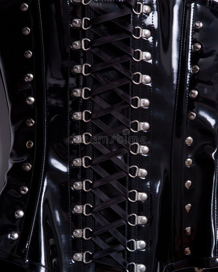 Tir en gros plan de corset professionnel de formation de taille photo stock