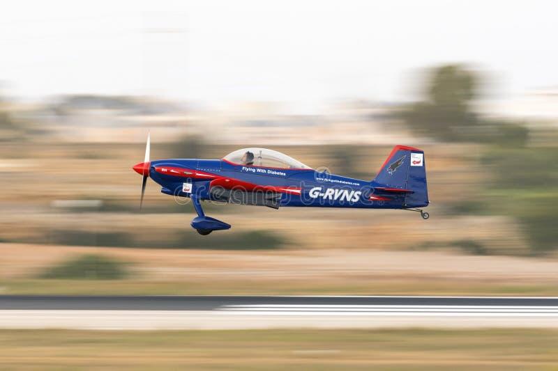 Tir filtré par avion léger photographie stock libre de droits