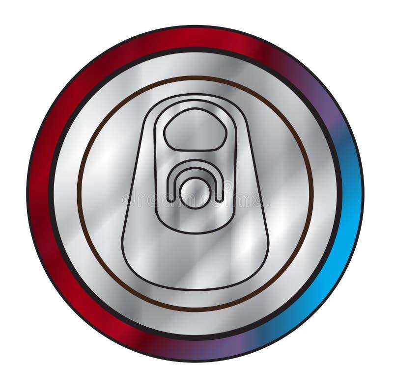 Tir?n del anillo del metal stock de ilustración