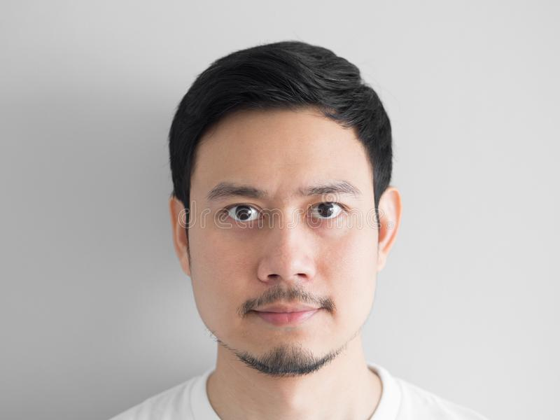 Tir principal d'homme normal de visage image stock