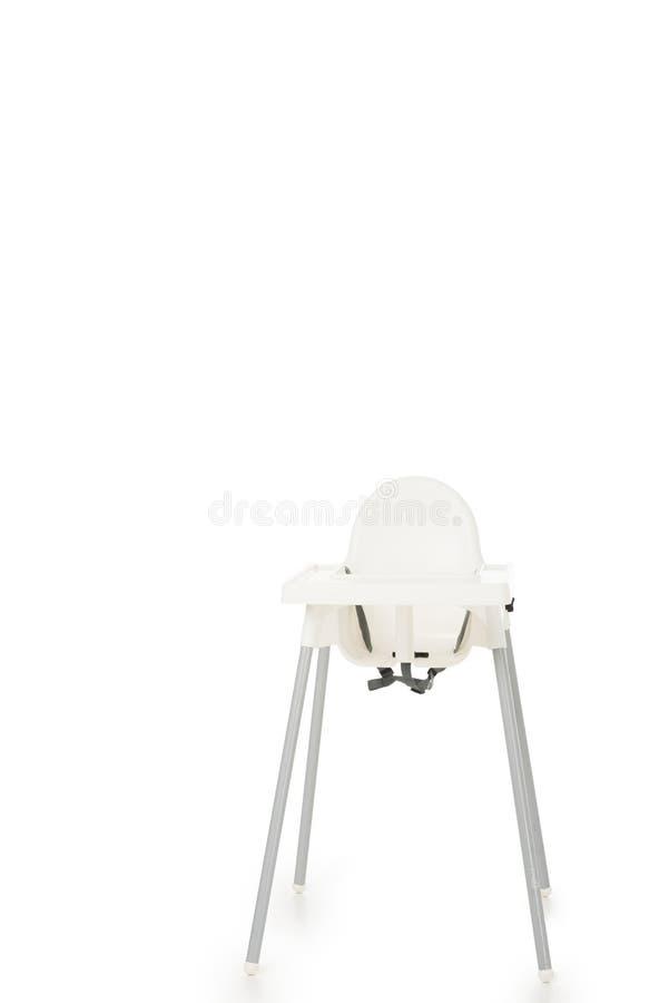 tir vertical de highchair d'isolement photos stock