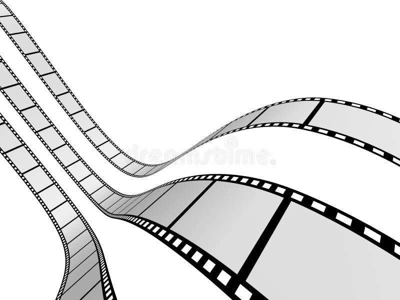 Tira 2 da película ilustração do vetor