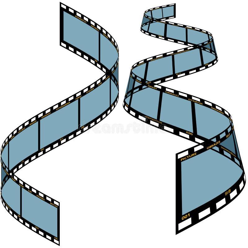 Tira C da película ilustração royalty free