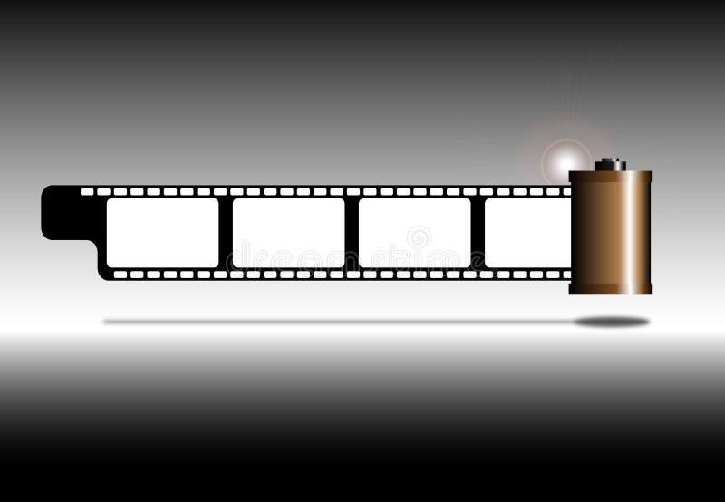 Tira da película da foto ilustração stock