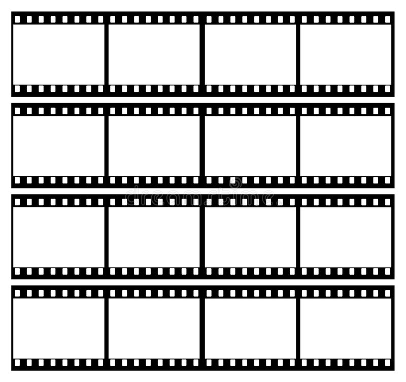 a tira da película molda o frame ilustração stock