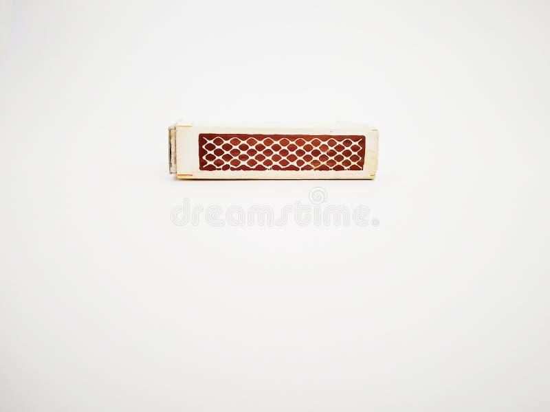 Tira de caja del partido aislada con el fondo blanco fotografía de archivo libre de regalías