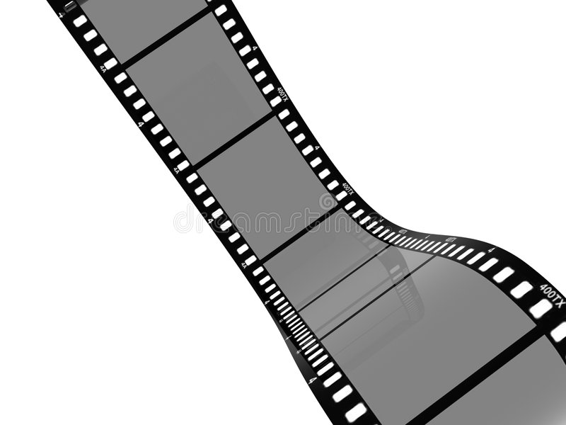 tira de la película de 3D 35m m stock de ilustración