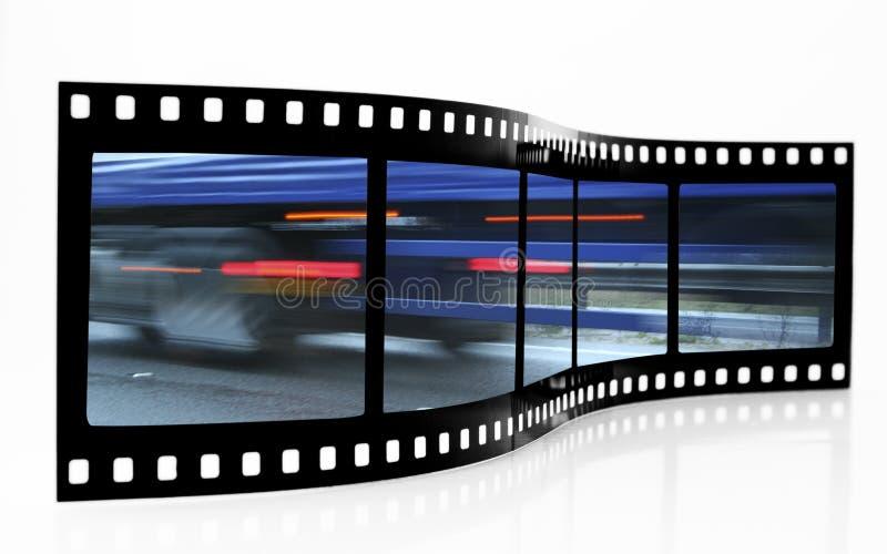 Tira de la película de la falta de definición de la velocidad imagenes de archivo