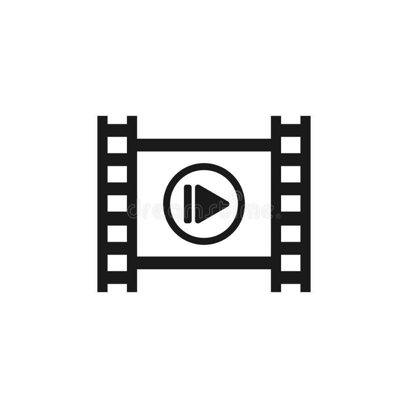 Tira de la película fotográfica con símbolo del juego libre illustration