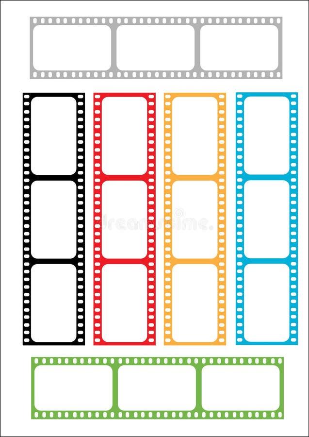 Tira de la película multicolora fotos de archivo