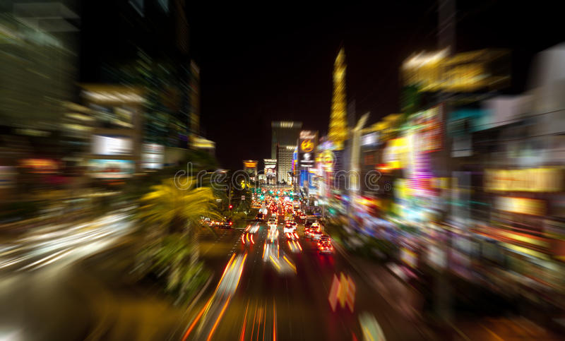 Tira de Las Vegas imagem de stock royalty free