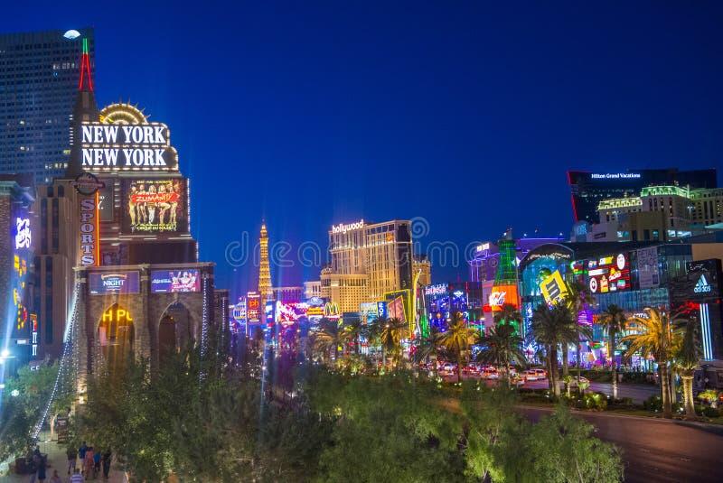 Tira de Las Vegas imagen de archivo
