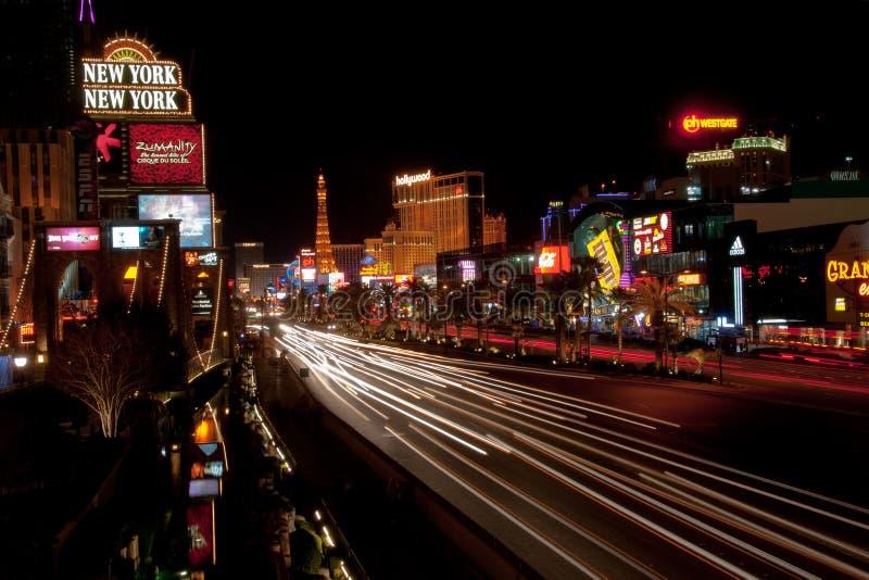Tira de Las Vegas de Night imagen de archivo libre de regalías