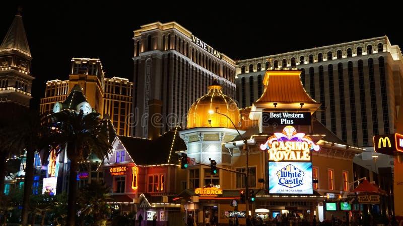 Tira de Las Vegas en Nevada imagen de archivo
