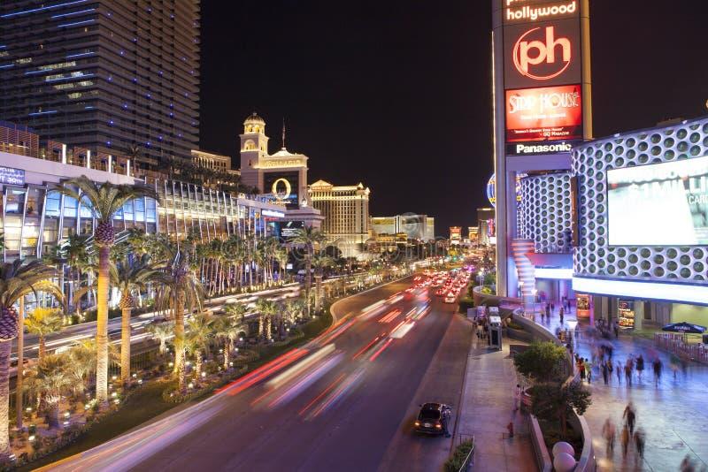 Tira de Las Vegas na noite fotos de stock royalty free
