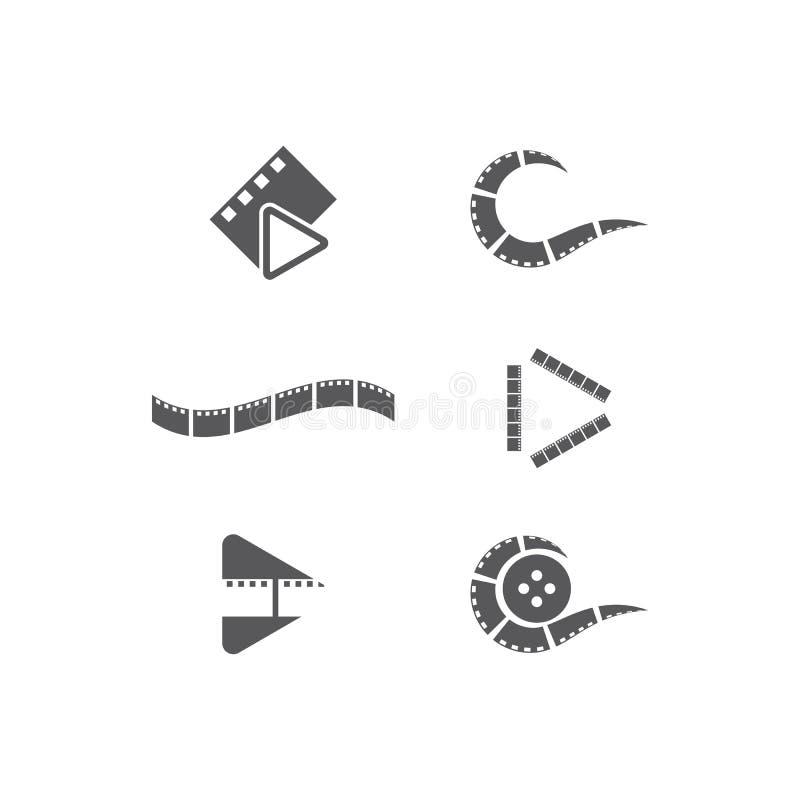 Tira de pel?cula Logo Template stock de ilustración