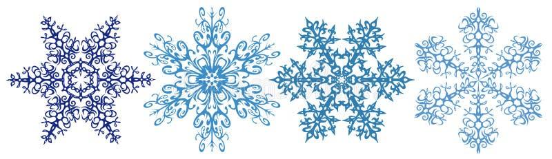 Tira del clipart de los copos de nieve ilustración del vector