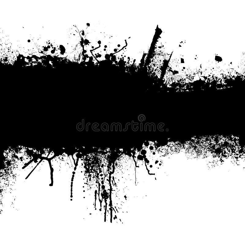 Tira del negro de Grunge libre illustration