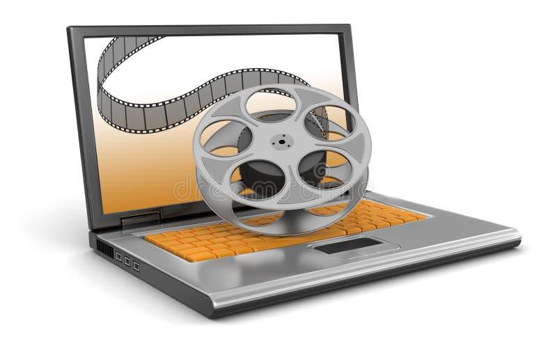 Tira del ordenador portátil y de la película (trayectoria de recortes incluida) libre illustration