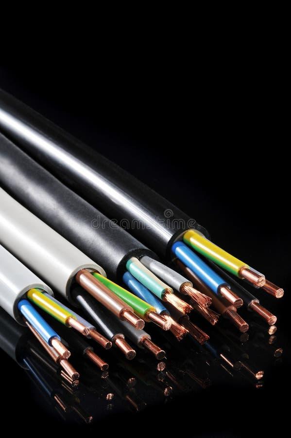Download Tira Del Poder Y Cable De Transmisión Imagen de archivo - Imagen de negro, cables: 41900069