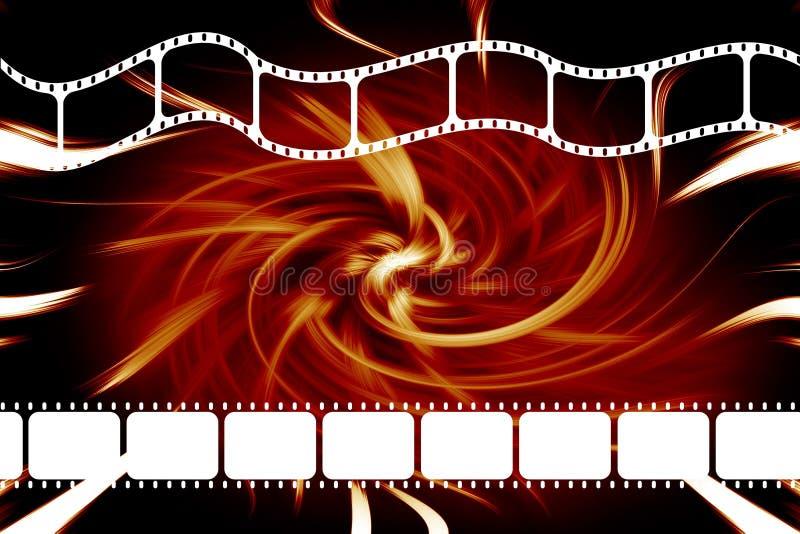 Tira del rollo de película de película ilustración del vector