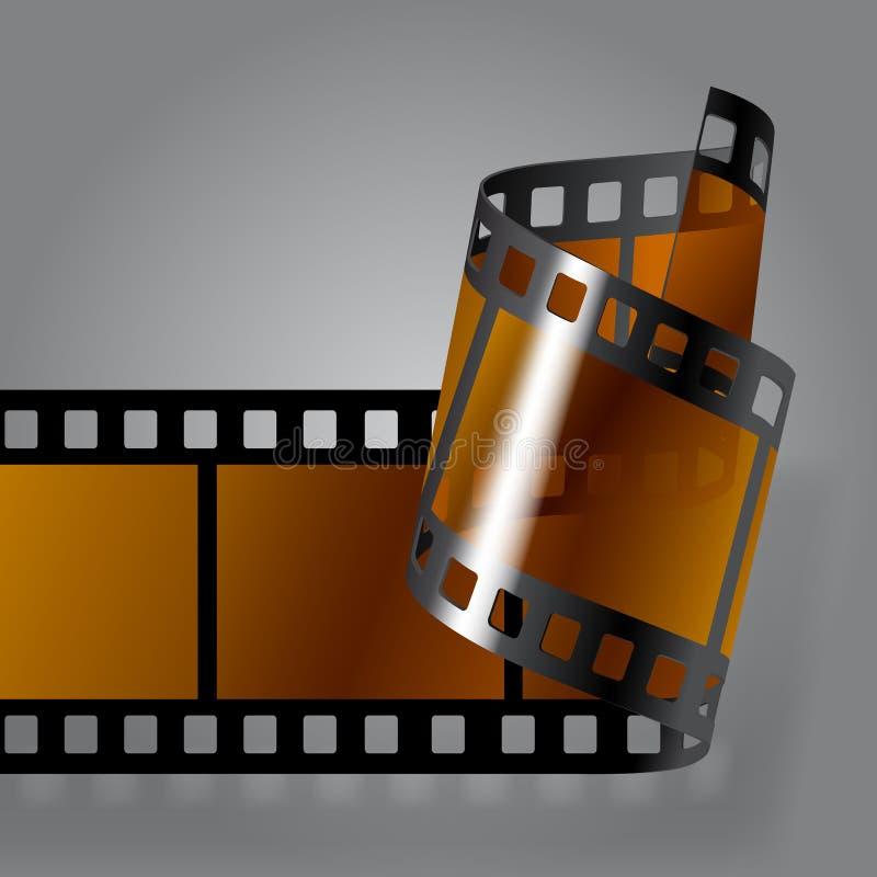Tira do filme da foto ilustração stock