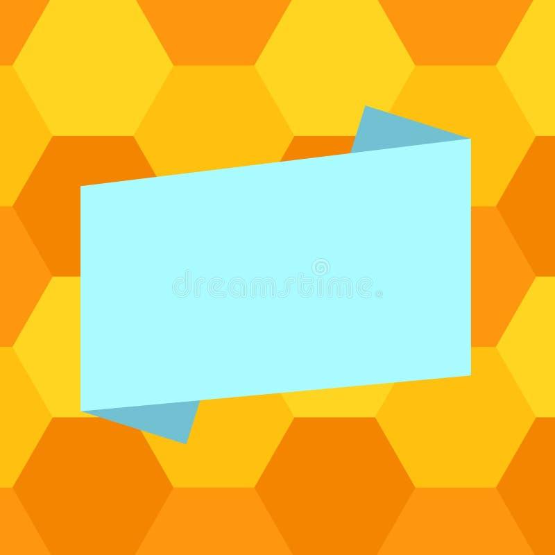 Tira doblada color material promocional aislada espacio vacío de la bandera del espacio en blanco de los vales de los carteles de libre illustration