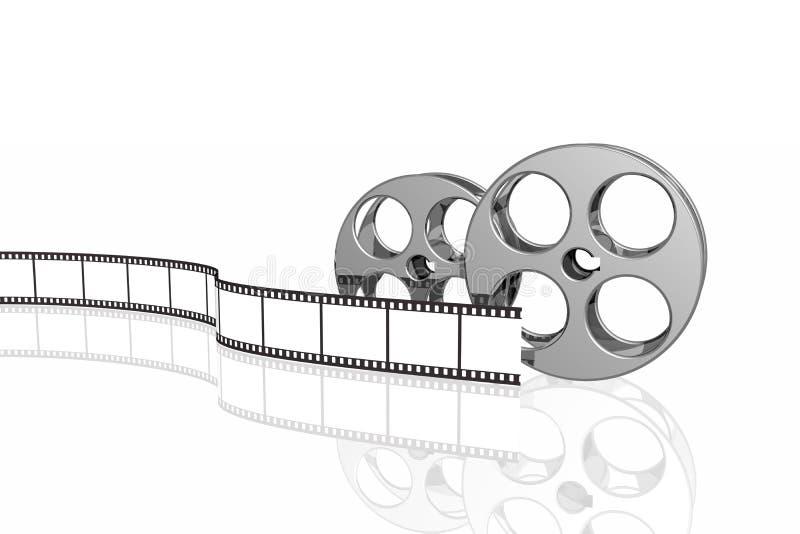 Tira e carretéis em branco da película ilustração do vetor