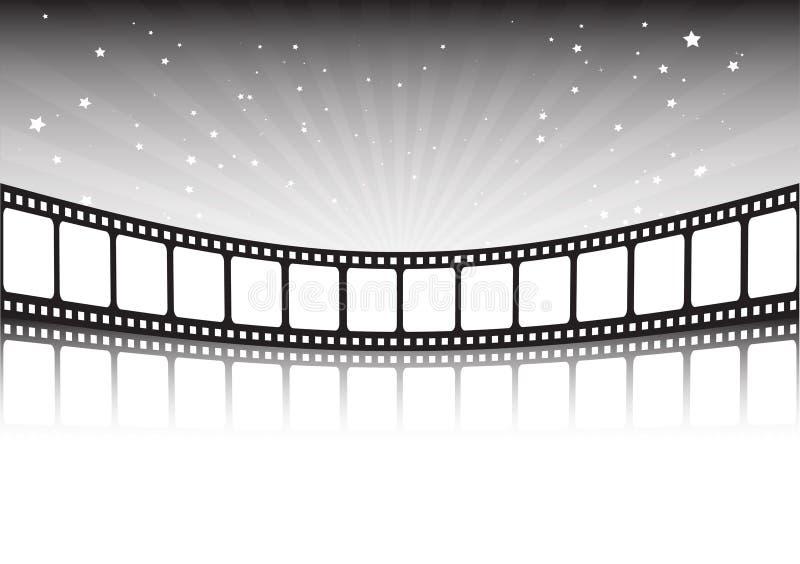 Tira e estrelas da película ilustração royalty free