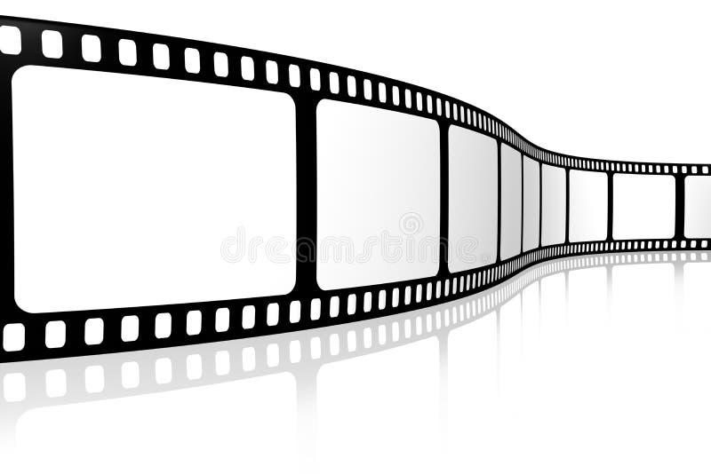 Tira em branco da película ilustração stock