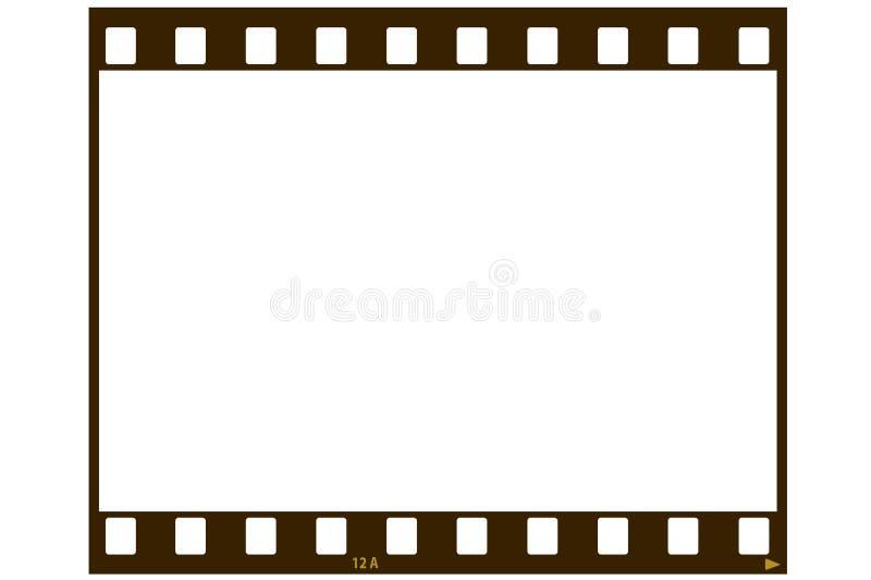 Tira en blanco de la película ilustración del vector