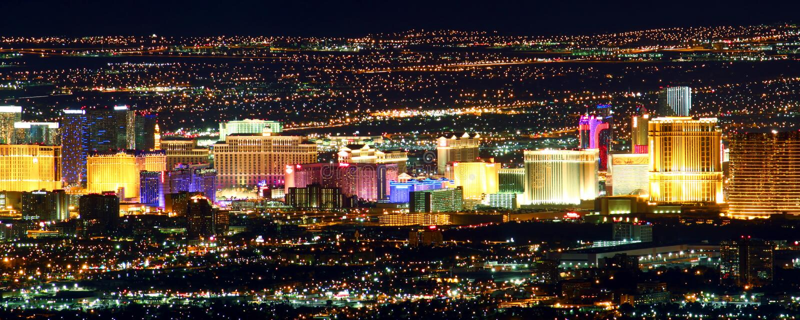Tira famosa de Las Vegas fotos de archivo libres de regalías