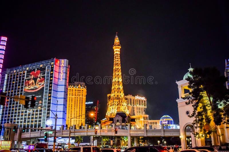 Tira Las Vegas da vista imagem de stock royalty free